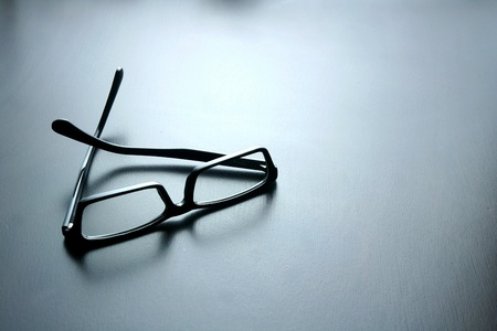 eye: Eyeglasses on a table