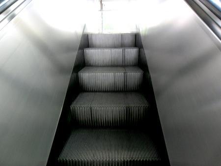 escalate: Escalator Stock Photo