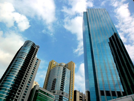 Buildings in ortigas complex in mandaluyong city in the philippines