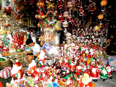 Store in dapitan arcade in manila philippines selling christmas decorations