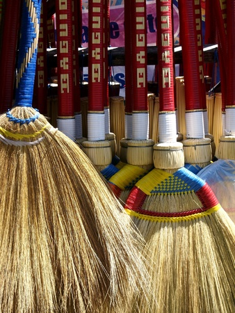 brooms: Brooms in a store