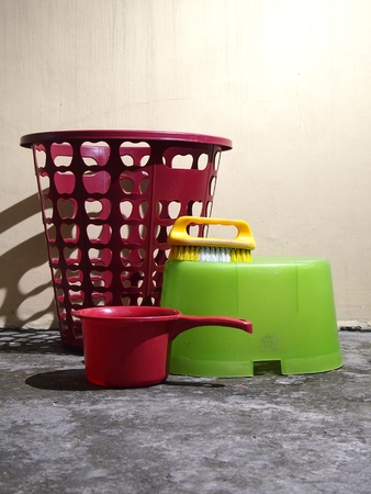 launder: Laundry materials Stock Photo