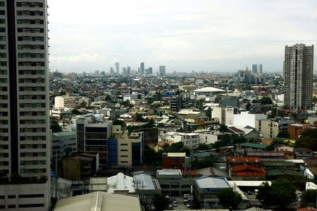 architectural: City skyline of Makati city in the Philippines Stock Photo