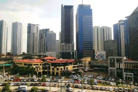 architectural: Buildings and skyscrapers in Bonifacio Global City in Taguig City, Philippines