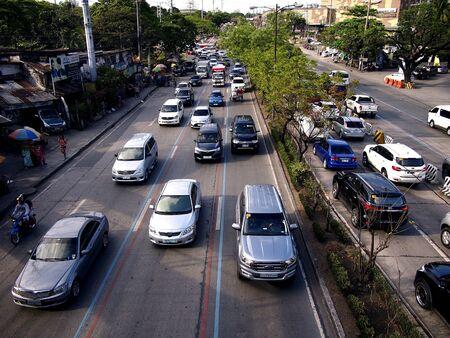 Vehicles along Katipunan Avenue in Quezon City, Philippines