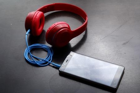 Smartphone and stereo headphones