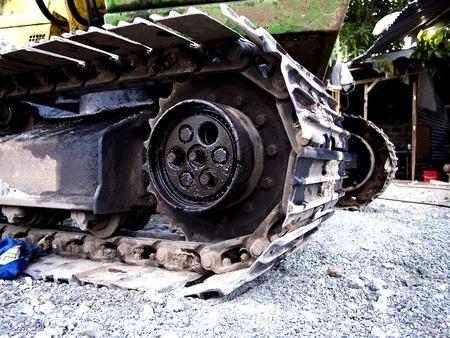 Excavators track