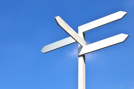 sign and blue sky Stock Photo - 10617647