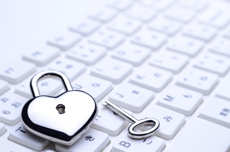 heart-shaped key photo