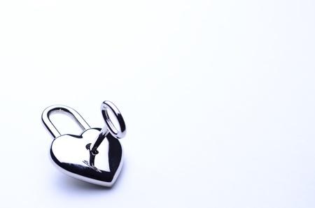 heart-shaped key photo