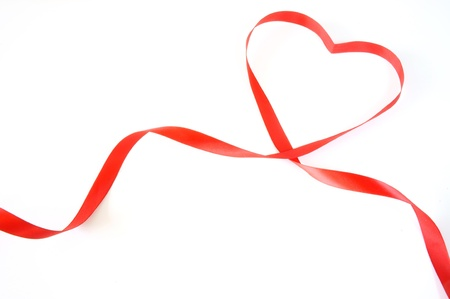 the sincerity: red heart ribbon
