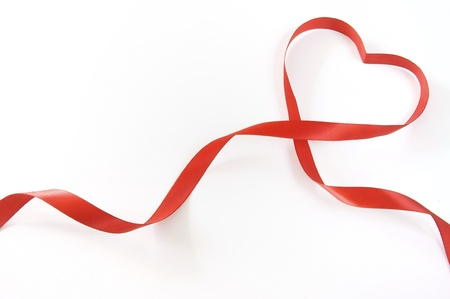 heart shaped: red heart ribbon