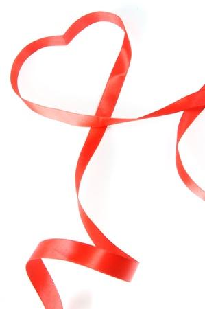 red heart ribbon photo