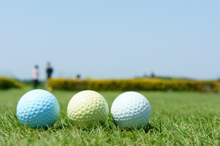 colorful golf balls photo