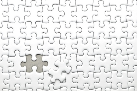 the last: Jigsaw puzzle Stock Photo