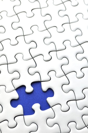 incomplete: Jigsaw puzzle Stock Photo