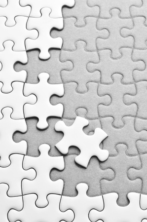 missing piece: Jigsaw puzzle Stock Photo