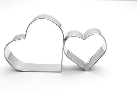 pareja comiendo: corazones