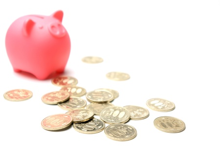 retirement savings: piggy bank