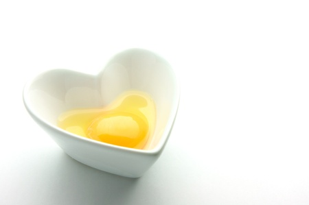 heart of raw egg  photo