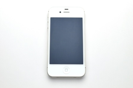 mobile accessories: iphone bianco