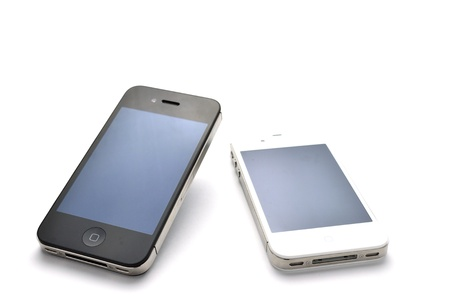 iphone black and white Stock Photo - 11729348