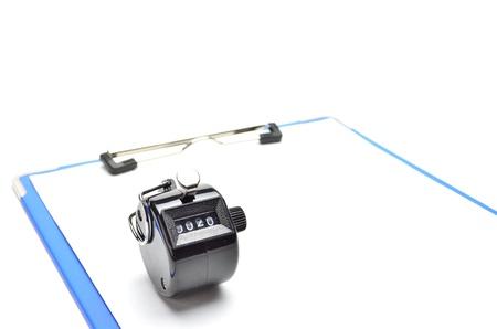 clip board and counter photo