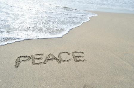 PEACE am Strand
