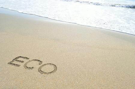 eco on beach Stock Photo - 12442184