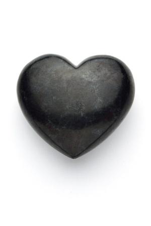 white pebble: love stone heart