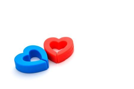 Plastic love heart photo