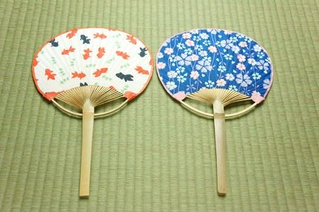 eventail japonais: fan japonais uchiwa Banque d'images