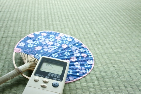japanese fan  uchiwa Stock Photo - 13264495