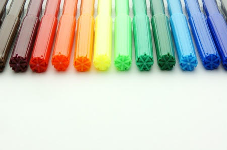 Set of felt-tip pens of different  写真素材