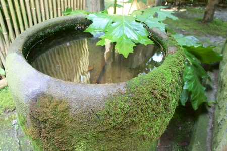 Water basin in japan photo