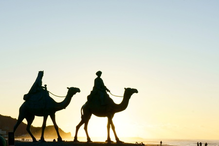 ラクダの青銅色の彫像 写真素材