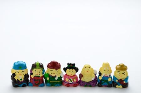 Seven Lucky Gods Stock Photo
