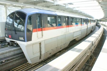 Monorail at tokyo japan Stock Photo