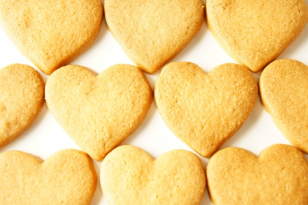 cookie heart isolated on the white background  photo