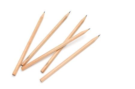 pencils on white Stock Photo - 14323422