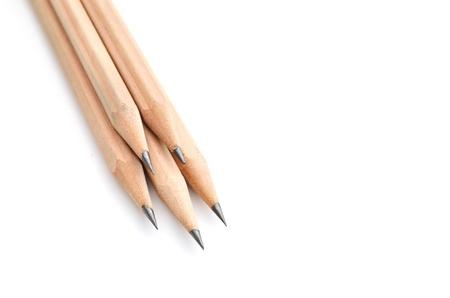 pencils on white photo