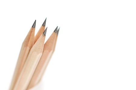 pencils on white photo
