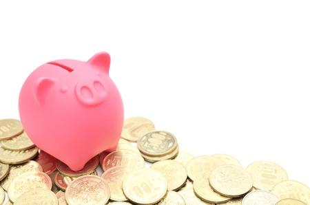 piggy bank and japanese money Stock Photo - 14534401
