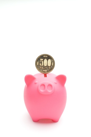 piggy bank and japanese money photo