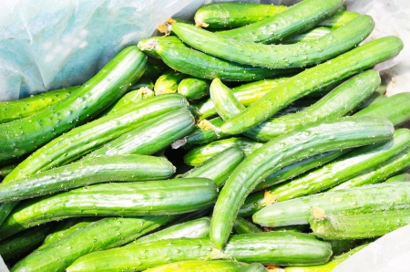 Cucumbers For Sale At Market photo