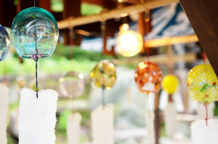 wind chime: japanese Windchime ,fuurin Stock Photo