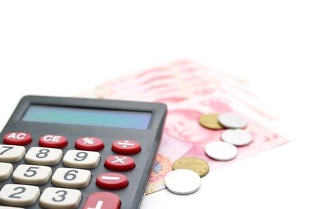Calculator and chinese money photo