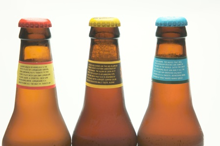 bottle of beer on white background  Stock Photo - 14758051