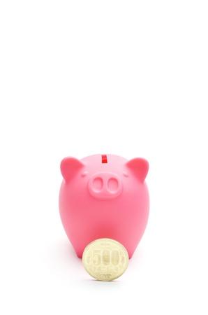 貯金箱と日本コイン