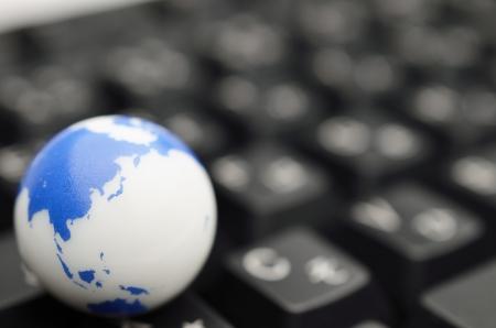 earth on keyboard Stock Photo - 15396333